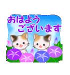 三毛猫ツインズ 夏~!(個別スタンプ:1)