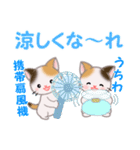 三毛猫ツインズ 夏~!(個別スタンプ:13)