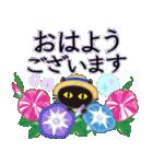 【涼感】黒ねこ×夏の気づかい(個別スタンプ:2)