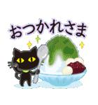 【涼感】黒ねこ×夏の気づかい(個別スタンプ:9)