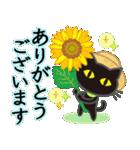 【涼感】黒ねこ×夏の気づかい(個別スタンプ:15)