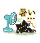 【涼感】黒ねこ×夏の気づかい(個別スタンプ:17)
