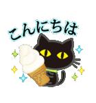 【涼感】黒ねこ×夏の気づかい(個別スタンプ:33)