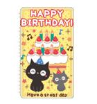 BIGスタンプ★黒ねこの誕生日&お祝い(個別スタンプ:9)
