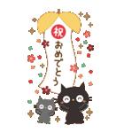 BIGスタンプ★黒ねこの誕生日&お祝い(個別スタンプ:31)