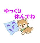 よちよち豆柴 優しい夏(個別スタンプ:23)