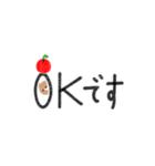 丁寧&シンプルくまのスタンプ(個別スタンプ:3)