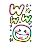 BIGスタンプ♡カラフルネオン♪デカ文字(個別スタンプ:19)