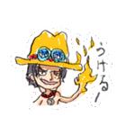 尾田っちの左手で描いたONE PIECEスタンプ!(個別スタンプ:02)