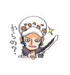 尾田っちの左手で描いたONE PIECEスタンプ!(個別スタンプ:09)