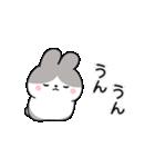 お返事に便利なパンダウサギさん(個別スタンプ:08)