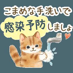 体調気遣い☆猫たちのスタンプ