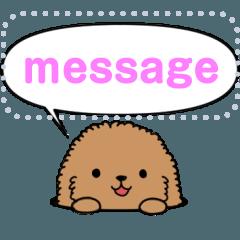 [LINEスタンプ] ぷるぷるトイプードル メッセージスタンプ