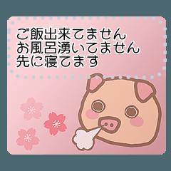 [LINEスタンプ] ぶーぶーちゃん メッセージスタンプ