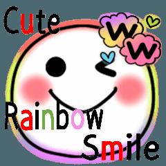激可愛い♥️レインボー色スマイルスタンプ