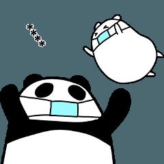 パンダと白いハムスター5