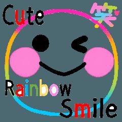 激可愛い♥️レインボー虹スマイルスタンプ