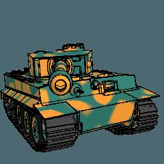 ばきばき動く戦車スタンプ 3