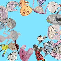 [LINEスタンプ] 子供達が描いたイラストスタンプ