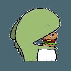 [LINEスタンプ] やる気の出ない怪獣2