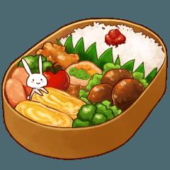 食いしん坊うさぎの飯テロスタンプ2