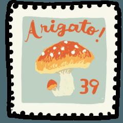 切手のスタンプ