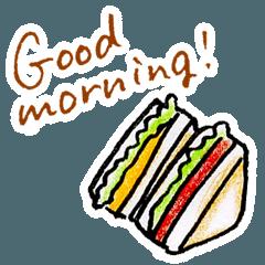 [LINEスタンプ] Good morning!おはようスタンプ