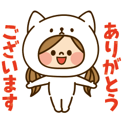 動く!かわいい主婦の1日【着ぐるみ猫】