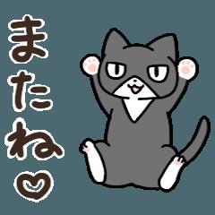 ハチワレ靴下猫のスタンプ