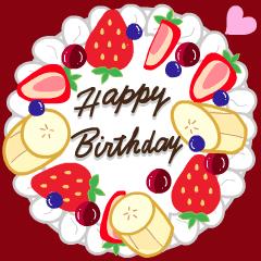 お祝い♡誕生日♡至福のスイーツ伝言4
