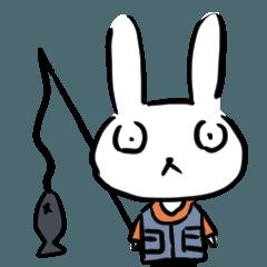 [LINEスタンプ] 釣りするうさぎさん