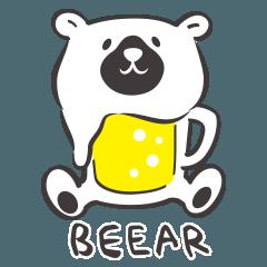 ビールでクマのBEEARくん