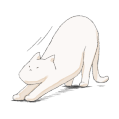 白猫がしゃべるスタンプ