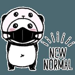 パンダinぱんだ(黒マスク)