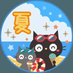 夏☀大人かわいい黒ねこ