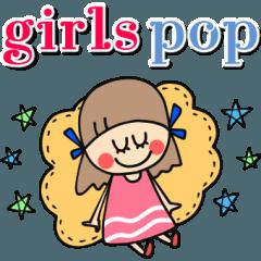 大人かわいい♡ girls pop スタンプ