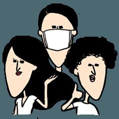 顎の長めな人たち