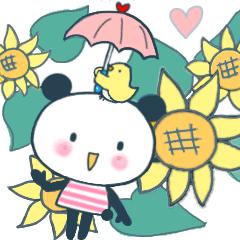 [LINEスタンプ] おちゃめなリトルパンナ 夏 (1)