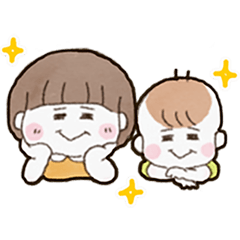 はーちゃん&そうくんのスタンプ【日常編】