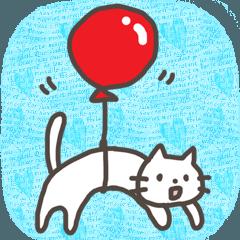 [LINEスタンプ] 胴長短足な白ネコさん♥