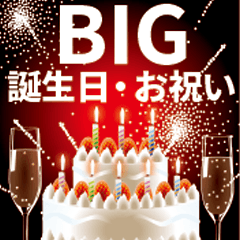 [LINEスタンプ] 【BIG・誕生日・お祝い】BIGなお祝い