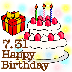 BIGスタンプ☆7月1日〜31日のお誕生日祝い