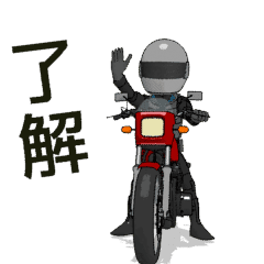 [LINEスタンプ] 俺は、明日もバイクに乗る5