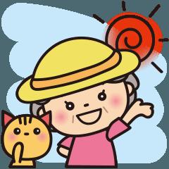 [LINEスタンプ] ばぁばの夏のBigスタンプ❤️英語
