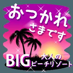 [LINEスタンプ] BIGスタンプ★大人のビーチリゾート