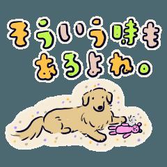 ゴールデンのスタンプ縁取り日本語版