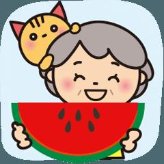 ばぁばの夏のBigスタンプ❤️中国語繁体字