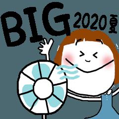 BIGスタンプ☆ボブガール☆2020夏