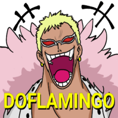 [LINEスタンプ] ONE PIECE ドフラミンゴさん