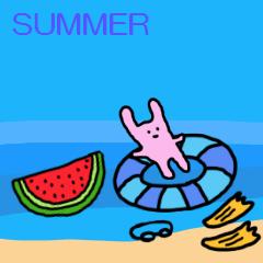 【夏】かわいい・スタンプ③